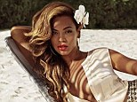 Beyonce Knowles in an ad for H&M's new summer advertising campaign in sunny Barbados