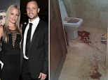 Graphic pictures of the bathroom where Reeva Steenkamp died have been shown by Sky News