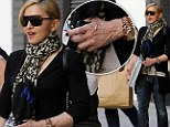 Ever youthful Madonna, 54, is betrayed by by her ageing hands as he steps out without trademark gloves