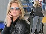 Rachel Hunter seen arriving at LAX Airport