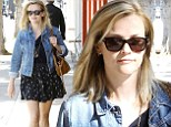 Reese's pieces! Witherspoon throws together cute ensemble to show off her petite frame and shapely legs