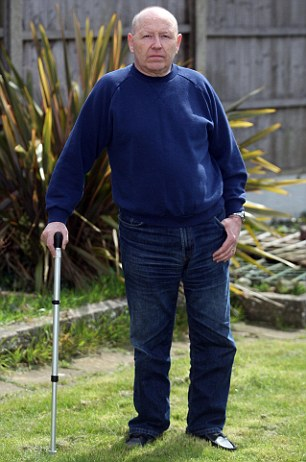 Frustrated: Ambulance technician Victor Brushette, 59, has been unable to claim compensation after being hit by an illegal quad bike rider