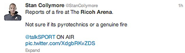 Concern: Stan Collymore raised the alarm on Twitter
