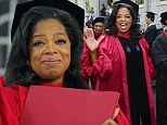 Doctor Winfrey! Oprah gets teary as she receives honorary degree from Harvard