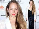 Is this a pajama party? Jemima Kirke drapes her figure in negligee gown and sheer robe to hit up charity event