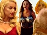 Sofia Vergara shoots bullets from her bra... as Amber Heard turns busty beauty queen and Lady Gaga wields a gun in first Machete Kills trailer