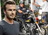 david beckham police escort