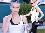 That's one fit mother! Pregnant Jaime King looks picture perfect after a hard workout