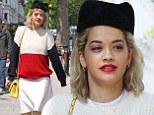 Rita Ora in a kooky hat