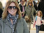 Geri Halliwell and daughter Bluebell arrive into Melbourne airport