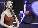 Belting it out: Jessica Simpson shared a video of her high school performance in A Chorus Line that shows her singing and dancing to the musical's soaring The Music And The Mirror song