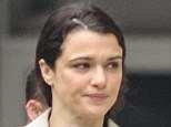 Barefaced: Rachel Weisz sports a makeup free and casual look in New York
