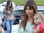 Dressing her slim figure! Khloe Kardashian slips in a quick shopping trip before meeting sister Kourtney and baby Penelope for dinner