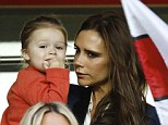 Victoria Beckham: 'I can't put make-up on when Harper's around!' Designer wants daughter to be a tomboy for as long as possible