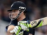 New Zealand's Martin Guptill hits out