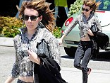 And her sensible footwear choice paid off, as the young actress set off at a run in West Hollywood on Thursday.