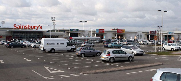 Scary scenes: The violence erupted at at New Douglas Retail Park in Hamilton, Lanarkshire