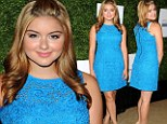 What an inspiration! Ariel Winter lightens up awards luncheon in blue frock and honey-hued hair