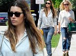 Feeling a little distressed? Jessica Biel and Sarah Michelle Gellar leave the polished look behind for rough and rugged jeans