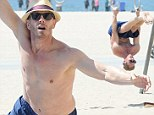 Nifty and nearly 50! Ian Ziering, 49, shows off impressive upper body strength as he prepares for Chippendales debut