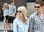 Throwing some shade! Emma Stone and Andrew Garfield look too cool for school as they take a stroll in NYC