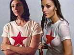 Is Megan Draper heading for trouble? Mad Men's Jessica Pare wears same red star T-shirt Sharon Tate wore in racy Esquire shoot before she was brutally murdered