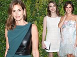 Leader of the pack! Cindy Crawford outshines her much younger competition Emma Roberts and Rachel Bilson in a stunning green dress at Chanel event