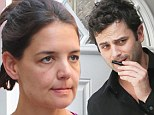 Worn out: Katie Holmes looked a tad weary on the set of her new movie Mania Days on Wednesday. She stars in the film with rumoured new boyfriend Lee Kirby