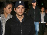 Didn't she like the play? An unsmiling Mila Kunis reunites with boyfriend Ashton Kutcher for low-energy date to the theatre