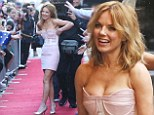 Geri Halliwell managed to prevent a red face as she hoisted up her dress at Australia's Got Talent auditions