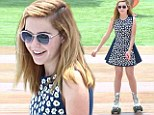 Acting her age! Mad Men star Kiernan Shipka has a blast skating and 'surfing' in Beverly Hills