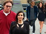 'Kanye just hasn't been around': Bruce Jenner reveals he's only met step-daughter Kim Kardashian's boyfriend ONCE