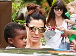 She already has famous friends! Selma Blair and Sandra Bullock bring sons to Pink's daughter Willow's second birthday party