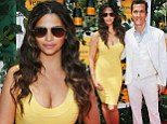 A ray of sunshine! Camila McConaughey shows off amazing post-baby body in low-cut yellow bandage dress for polo event
