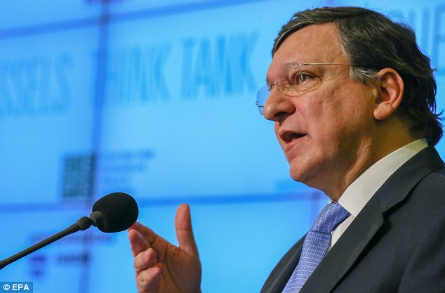 Shock: Jose Manuel Barroso, president of the European Commission, seems to have turned against austerity
