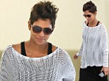 California calling! Halle Berry shows off her laid-back maternity style as she jets into Los Angeles from X-Men film set