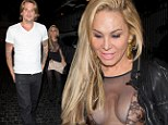 Sugar-mamma's not happy: Real Housewife Adrienne Maloof has wardrobe malfunction after toyboy Sean Stewart blows her off