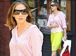 Bananarama! Sarah Jessica Parker hits a high note in bright yellow skirt and pink blouse for bookstore shopping spree
