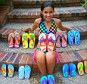 Huge success: Every store buyer Madison Robinson has approached has placed an order for her Fish Flops for Kids shoe brand