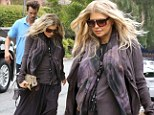 Opposites attract! Fergie drapes her baby bump in a hippie-chic ensemble while husband Josh Duhamel wears golf cleats to church