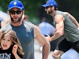 Daddy's girl! Ripped Hugh Jackman's latest workout partner is his adorable daughter Ava