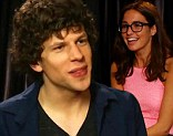 Socially awkward Jesse Eisenberg is labelled a 'jerk' after mocking pretty young girl throughout his ENTIRE interview