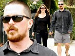 He fits right in! Christian Bale goes from Batman to bald surfer dude as he hits Santa Monica with wife Sibi showing off his new buzz cut