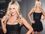 Let's get this party started! Jenny McCarthy cuts a sexy figure in cleavage-popping crochet dress at Las Vegas soiree