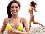 Farrah-watch! Pneumatic Teen Mom star Abraham spills out of mismatched bikini as she runs down Miami beach