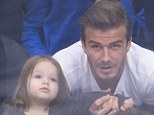 Daddy's girl: David Beckham has joked that he would be reluctant to allow his daughter, Harper, to date boys in the future