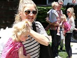 Picture perfect! Rebecca Gayheart and Eric Dane make parenting look like a breeze as they share the load on a Sunday outing with their girls