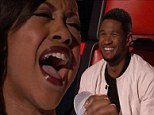 A Fierce competitor! Usher likens Sasha Allen to Beyonce on The Voice