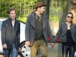 To Hampstead... and beyond! Ashton Kutcher and Mila Kunis were seen catching up with his space pal Dave Clark in London on Sunday