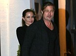 Keeping it simple: The couple complemented each other in matching black